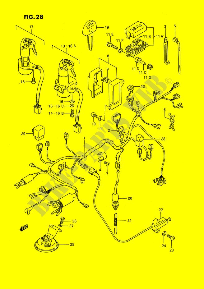 Faisceau Electrique  Modele J  K  L  M  N  P  Pour Suzuki Gsx