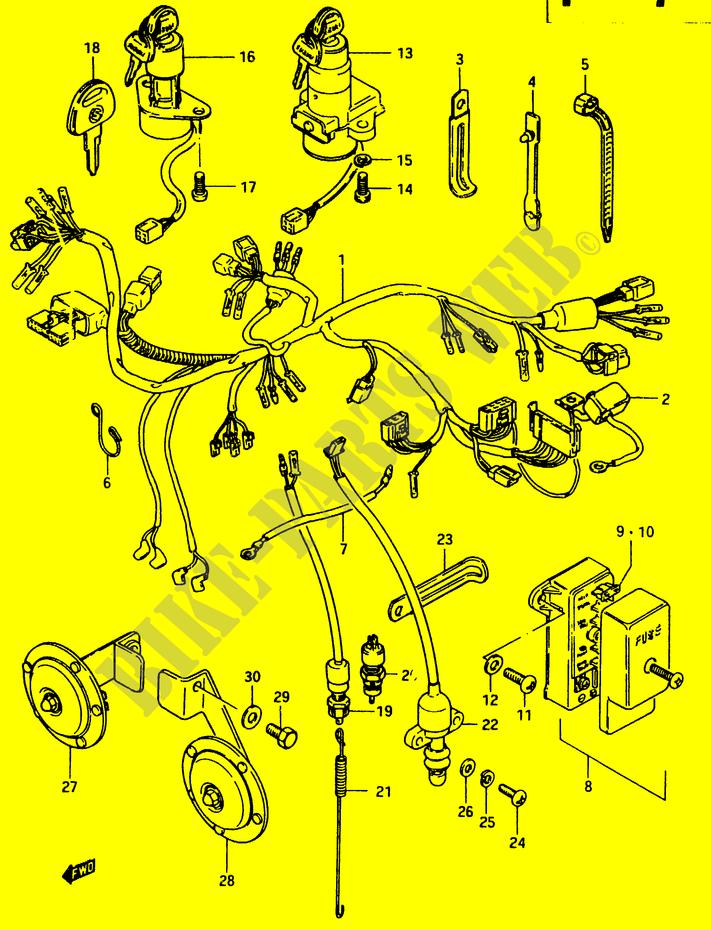 faisceau electrique pour suzuki gsx e 750 1983 suzuki