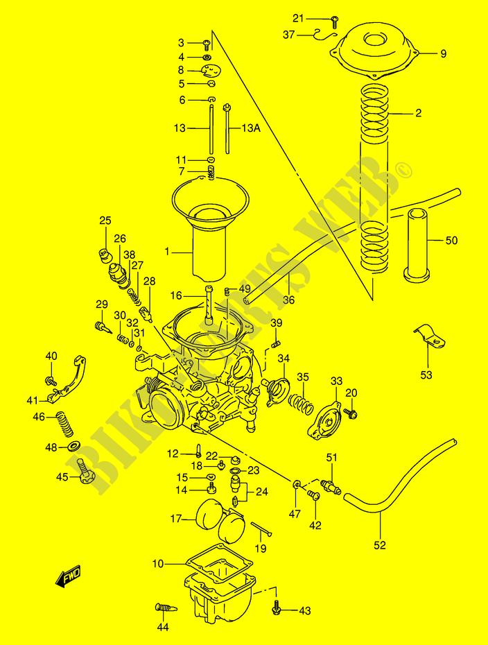 carburateur rear pour suzuki 800 vx 1996 suzuki moto. Black Bedroom Furniture Sets. Home Design Ideas