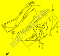 CARENAGES ARRIERE  (MODELE M) pour Suzuki DR 650 1996