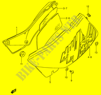 CARENAGES ARRIERE  (MODELE P) pour Suzuki DR 650 1996