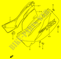 CARENAGES ARRIERE  (MODELE T) pour Suzuki DR 650 1996