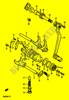 ENSEMBLE DE SELECTION DE VITESSES pour Suzuki DR 250 1987
