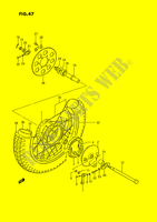 ROUE ARRIERE SUSPENSIONS/FREINAGE/ROUES 185 suzuki-moto TS-ER 1993 DP030764