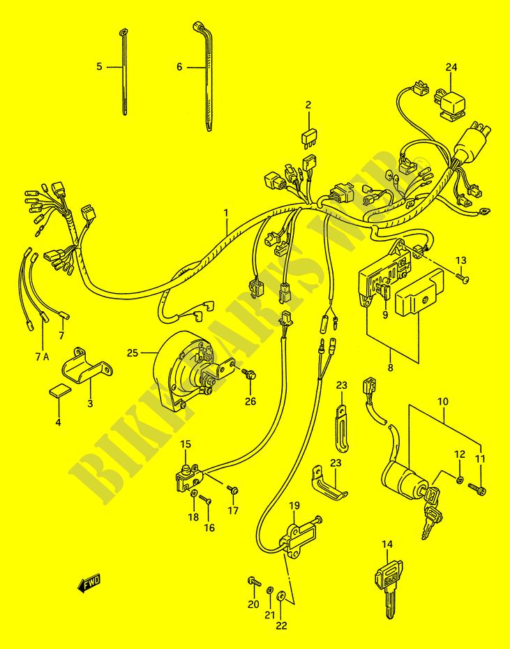 Faisceau Electrique Pour Suzuki Intruder 1400 1993