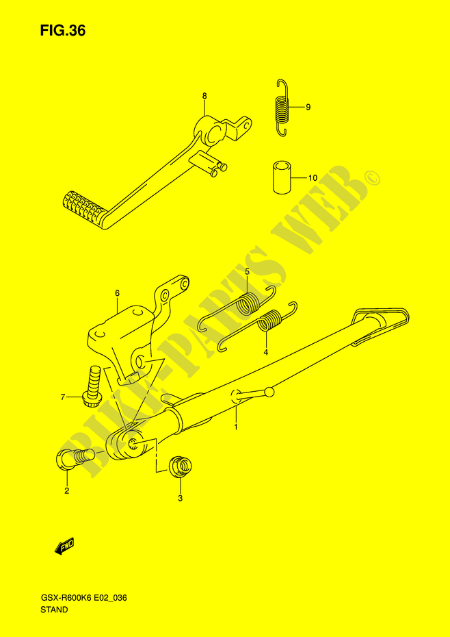Pedale de frein  DP038390