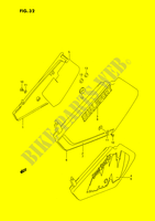 CARENAGES ARRIERE  (MODELE L/M) pour Suzuki DR 350 1994