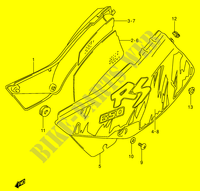 CARENAGES ARRIERE  (MODELE N) pour Suzuki DR 650 1996