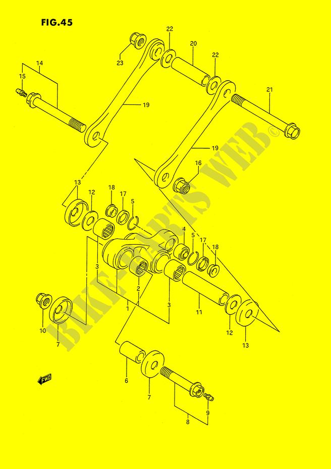 BIELLETTE DE SUSPENSION ARRIERE pour Suzuki DR 350 1990