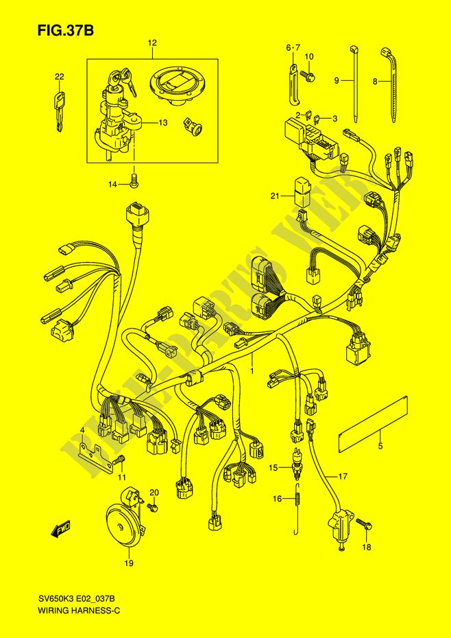 Faisceau Electrique  Sv650k7  Sv650uk7  Pour Suzuki Sv 650