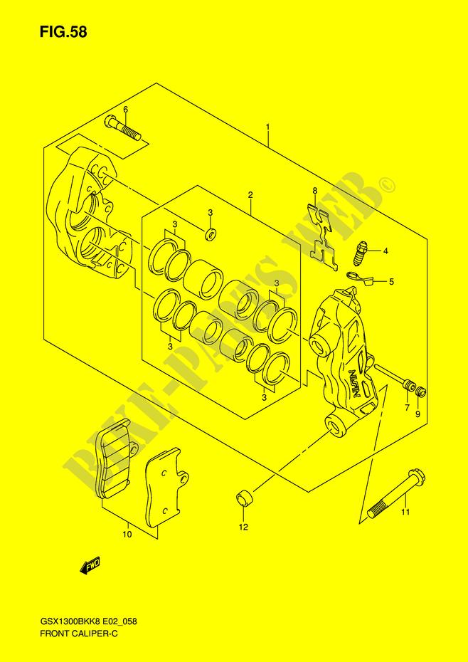 Tokico 6 pistons d'Hayab VS Nissin 4 pistons de BK ETRIER-DE-FREIN-AVANT-Suzuki-MOTO-1300-B-KING-2009-GSX1300BKAU2K8-E2--DP046038