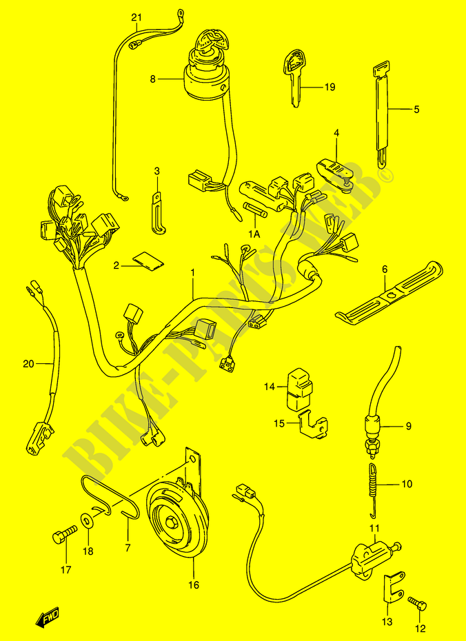 Faisceau Electrique  Modele N  R E30  Pour Suzuki Gn 125 1991   Suzuki Moto