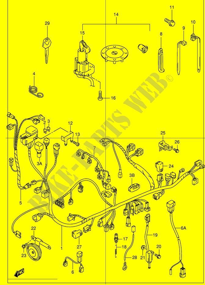 Faisceau Electrique  Modele X  Y  K1  K2  Pour Suzuki