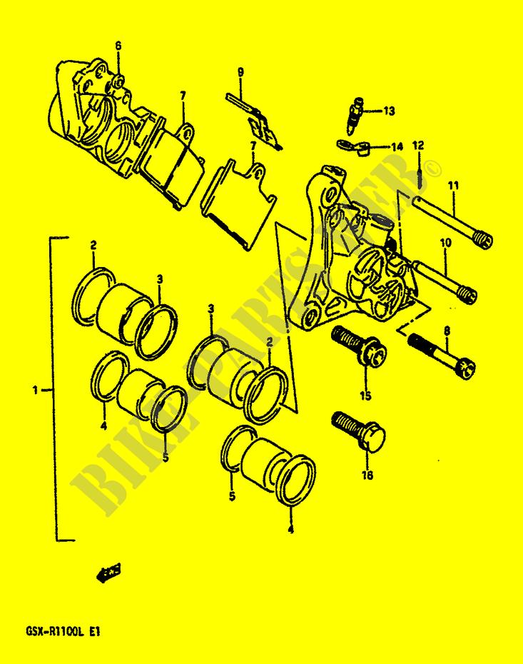 [Rech] Plaque anti-vibration étrier NIssin 750 /1100 1200 BANDIT Dp012345