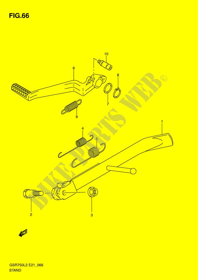 Pedale de frein  DP067197
