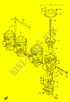 CARBURATEUR (MODELE S) MOTEUR/TRANSMISSION 1100 suzuki-moto GSX-R 1998 DP015251