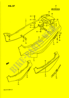 CARENAGES ARRIERE  (MODELE M) CARENAGES/CADRE 1100 suzuki-moto GSX-R 1992 DP015762