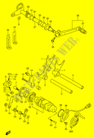 ENSEMBLE DE SELECTION DE VITESSES (MODELE T/V/W) MOTEUR/TRANSMISSION 1100 suzuki-moto GSX-R 1998 DP014463