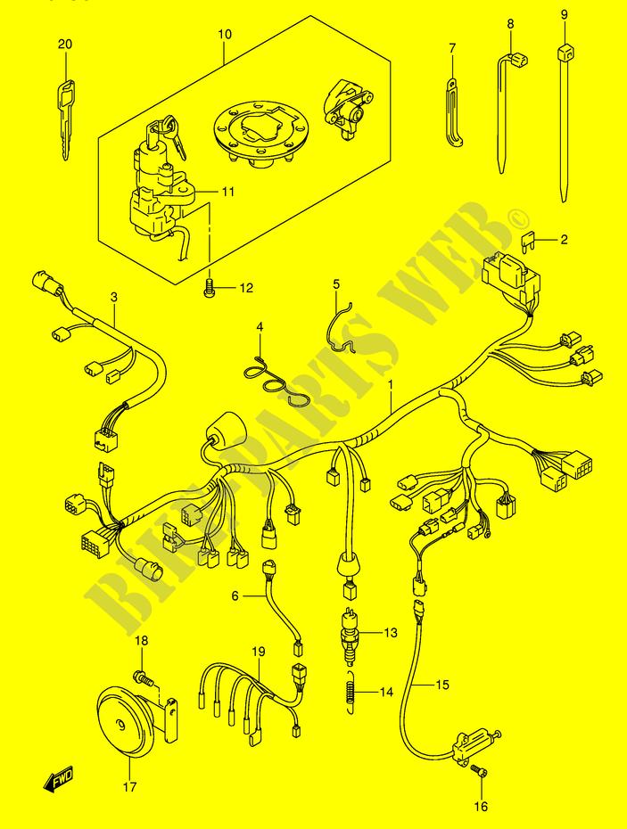 Faisceau Electrique  Gsf1200sk3  Sk4  Sk5  Szk5  Pour Suzuki