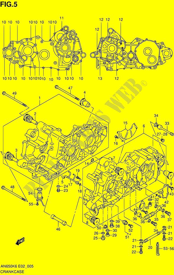 Ou trouver un vérin de coffre pour Burgman - Page 2 CARTER-Suzuki-SCOOTER-650-BURGMAN-2008-AN650-K8-E02E19E24--7134005