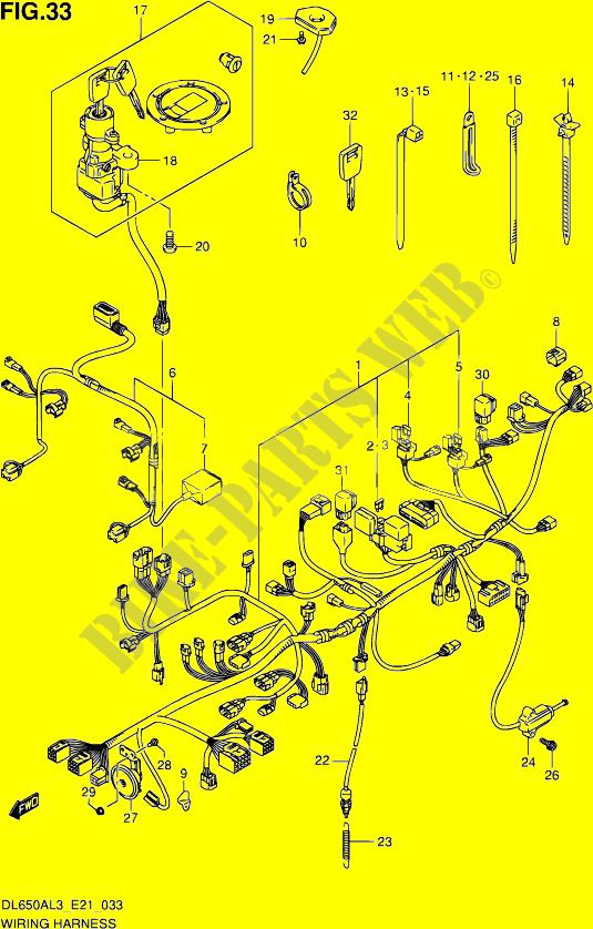 Faisceau Electrique  Dl650al3 E21  Pour Suzuki V