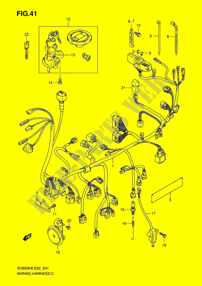 Faisceau Electrique  Sv650k8  K9  Sv650uk8  Uk9  Pour Suzuki